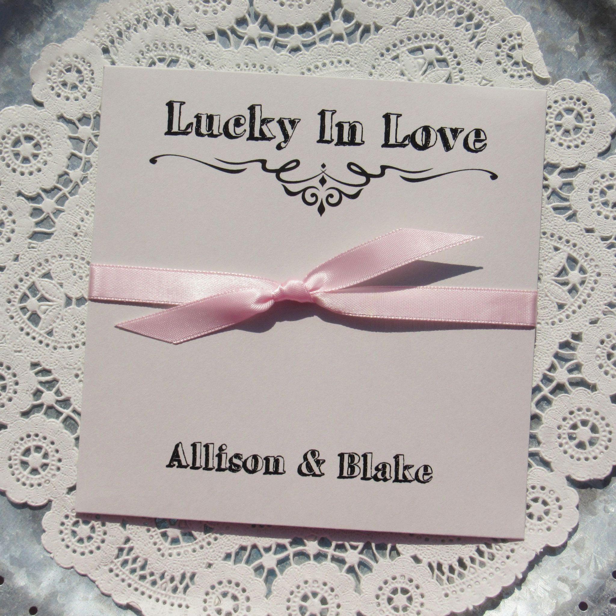 Wedding Favors Grey Lucky In Love Favors Summer Wedding
