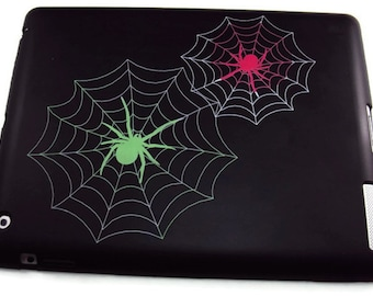 Ipad 2, 3, or 4 Spider Web Print  Silicone Protective Case, Protective Cover, Slip Resistant Case