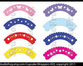 Cupcake Wrappers SVG Bundle 003