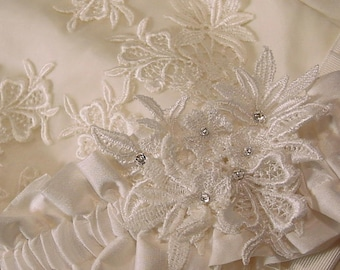 10a61b18702 Resserve listing for Lisa Wedding garter your own FAMILY HEIRLOOM made from  your mothers s wedding gown a Peterene Original