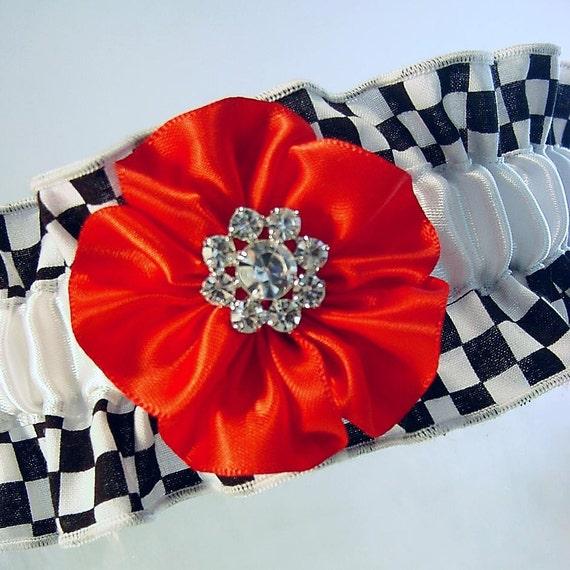 Funny Wedding Garters: Items Similar To Wedding Garter Black And White Check