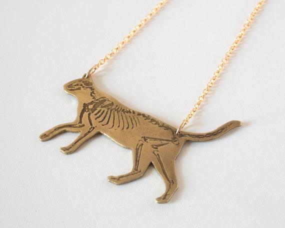 Katze-Halskette Tier Halskette Anatomie Katze Schmuck