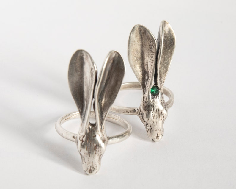 Hare Ring  Rabbit Ring  Rabbit Jewelry  Bunny Ring  Bunny image 0