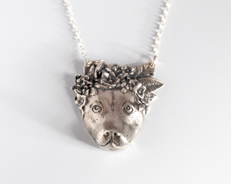 Pit Bull Flower Power by Sophie Gamand Pit Bull Necklace Dog image 0