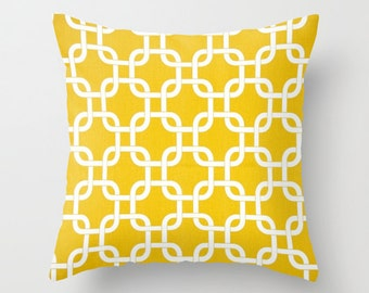 Yellow Pillow Covers Nautical Pillows Decorative Pillow Covers 8 Size Choices