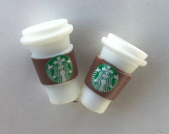 10Pcs Dollhouse Resin McCafe Coffee To Go Cups 1:6 Miniature Model Decor