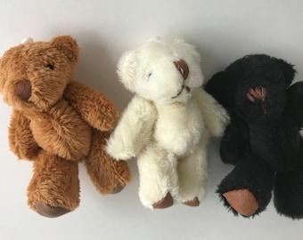 Dollhouse Miniature Furry Plush Stuffed Bear,Mini Bear Toy Doll/'s House Doll House Miniatures,1:12 Scale Accessories Doll Toy Stuffed Animal