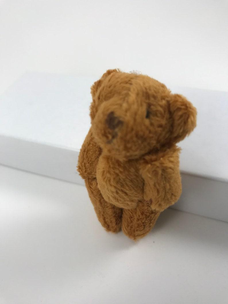 Mini Brown Bear Plush Animal Minature Teddy Tiny Teddy Stuffed Animal Dollhouse Accessory Toy