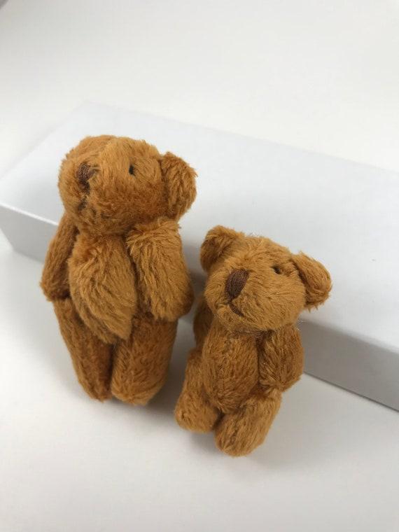 DOLLS/' HOUSE 1//12TH SCALE FLUFFY LIGHT BROWN TEDDY BEAR