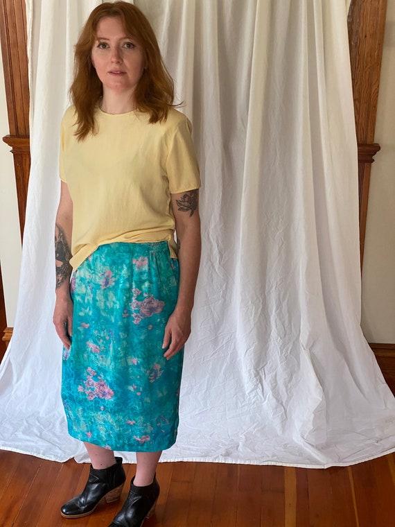 Vintage Anne Crimmins silk floral skirt