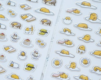 Limited Stock 2 Sheets / Gudetama Stickers