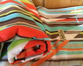 Mid Century Mod Stripe. Soft Organic Cotton Roundabout Blanket