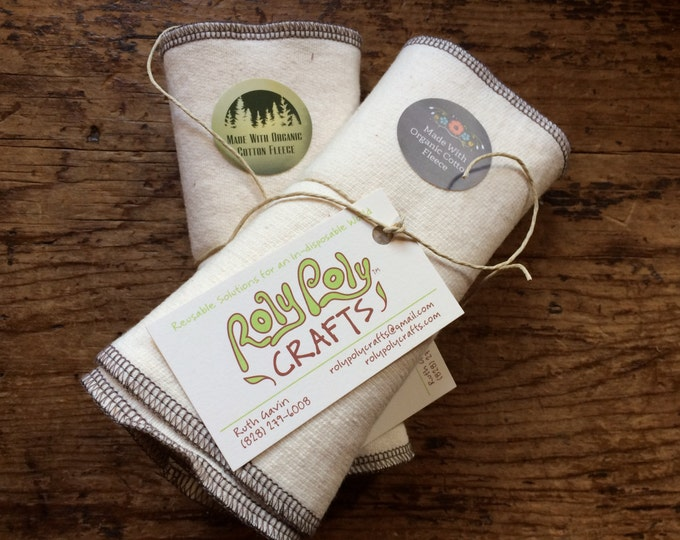 Featured listing image: Organic Cotton Fleece Wipes