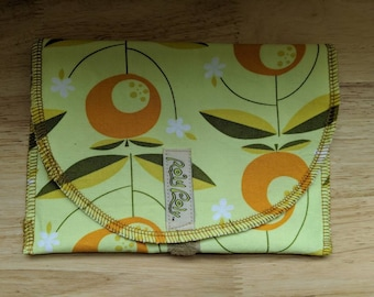 SANDWICH BAG. ORGANIC cotton, eco friendly lunch, reusable snack bag
