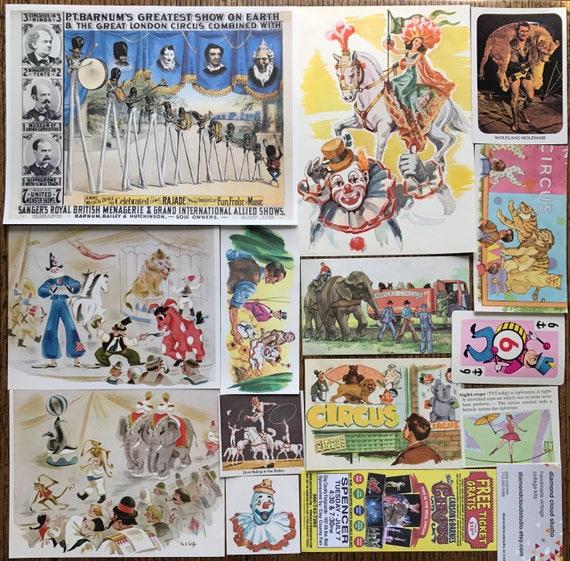 Le cirque arrive en ville ville ville Vintage Collage, album et planificateur Kit numéro 2500 8bcd24