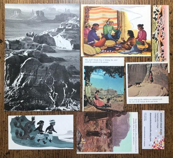 Collage de et Monument Valley Vintage Navajo désert de l'Arizona, album et de planificateur Kit numéro 2616 2f0862