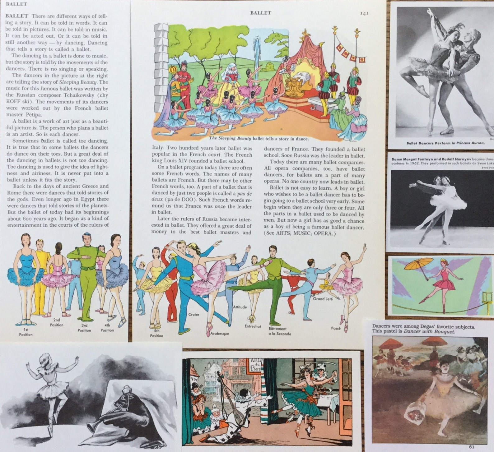 ballerina vintage ballet and dance collage, planner and scrapbook kit number 1889