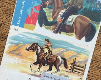 Pony Express Vintage Mail and Post Office Collage, Planner and Scrapbook Kit Number 3354