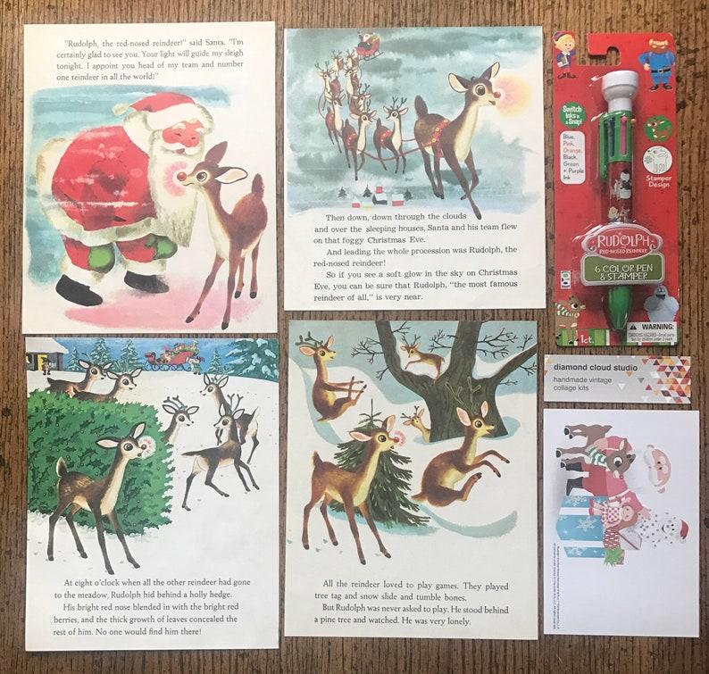 Rudolph the Red Nosed Reindeer Vintage North Pole December ...