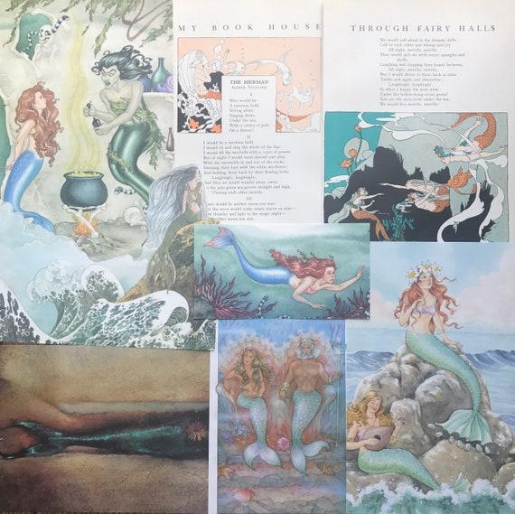 Sirènes de la et mer sirène Vintage Collage, Scrapbook et la de planificateur Kit numéro 2698 c9b39a