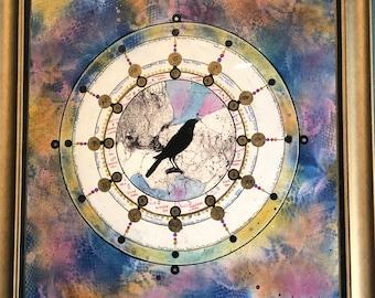 Crow Spirit Astrology Chart Wheel