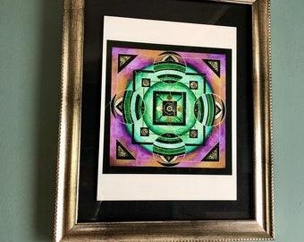 Art Glicee Print Mandala 19- The Simulator Has Been Disengaged