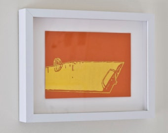 """Greetings from Tampa - FRAMED Pool - Drawing 6""""x9"""""""