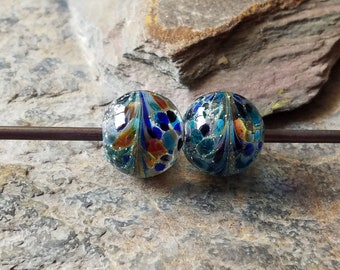 Silvered Frit Lampwork Beads Item 12652