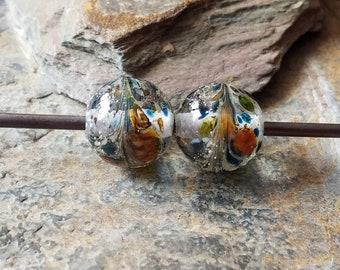 Silvered Frit Lampwork Beads Item 12651