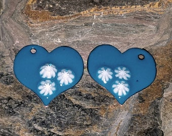 Enameled Copper Earring Components Item 11342