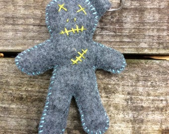 Plush voodoo doll keychain