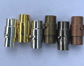 Twist+Magnetic Kumihimo Clasp/End Cap. (3-10mm hole) Multiple finishes