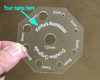 Personalized Kumisizer Card for Kumihimo Braid Diameter Measurement