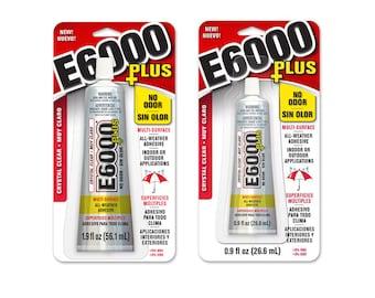 E6000 Plus Adhesive 0.9 or 1.9 oz - No Odor!