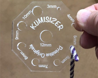 Cord Diameter Measuring Tool. KumiSizer. Helps fit end caps to your cord or braid