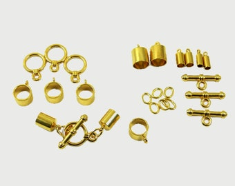 Kumihimo Finding Set - toggle clasps for kumihimo and jewelry necklaces and bracelets