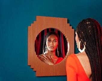 Honey Dijon Creator Collab - Fluted Mirror - Geometric - Burnt Orange