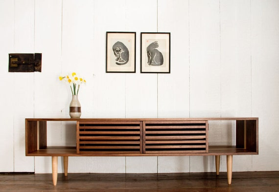 online retailer bf9c6 ba13f Bucks Media Console - Modern - Solid Walnut and Maple - TV Stand - Media  Cabinet