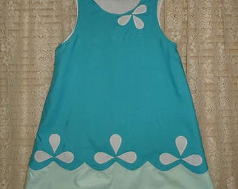 Poppy Troll A-line Style Dress-----)Custom sized/Made to order from 12 months to Girls size 8-----)U pick size