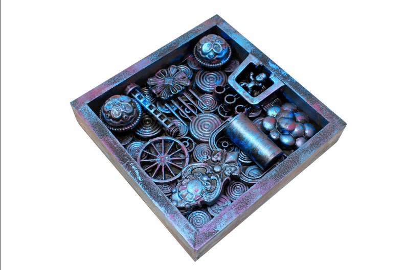 Altered Mixed Media Assemblage Art Recycled Art Steampunk image 0