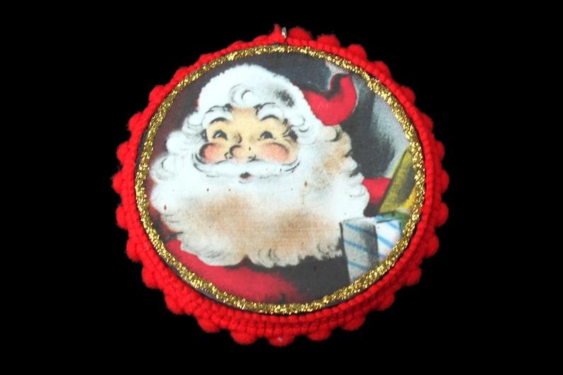 Old Fashioned Santa Ornament Vintage Ephemera Santa Ornament image 0