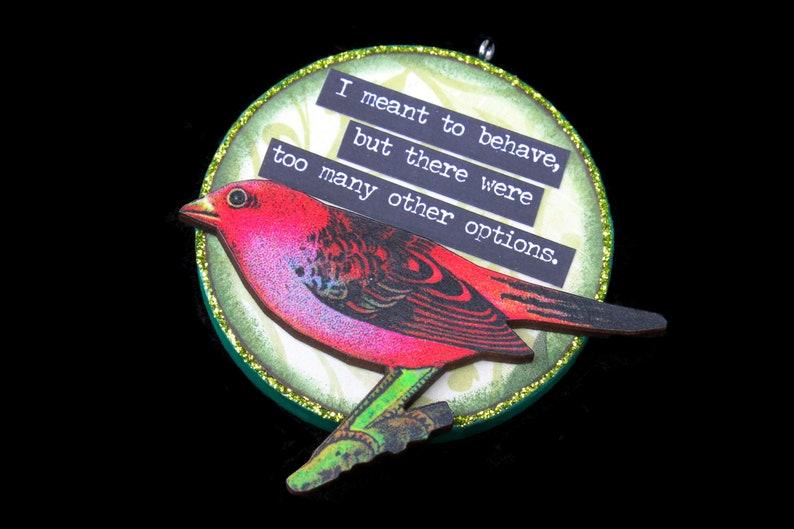 Funny Bird Ornament Snarky Bird Wall Art Sarcastic Ornament image 0