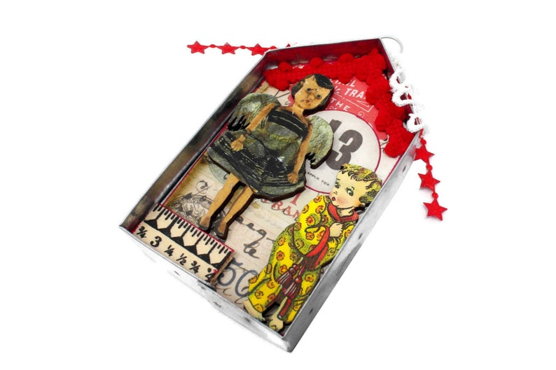 Miniature Altered Weird Doll Art Assemblage Anthropomorphic image 0