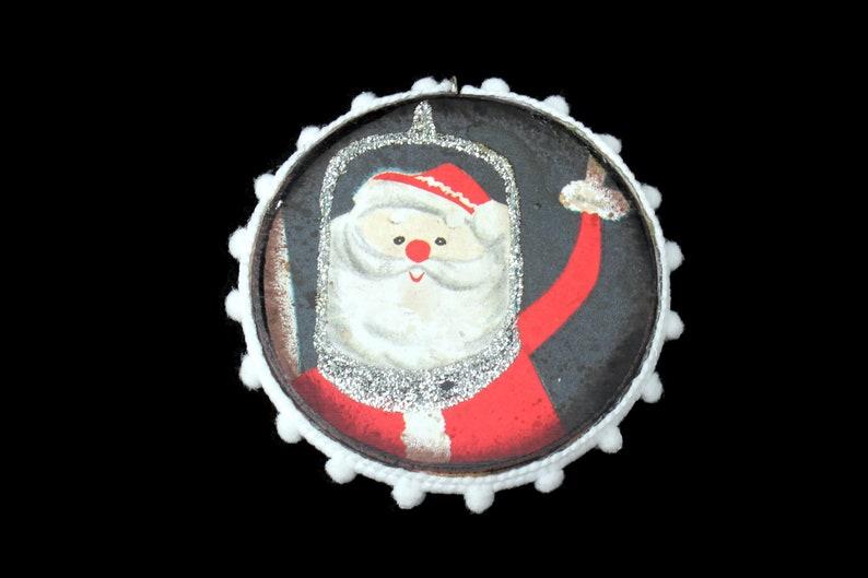 Astronaut Santa Ornament Vintage Ephemera Ornament Science image 0
