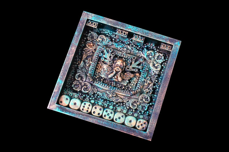Found Object Assemblage Shadow Box Art Mixed Media Art image 0