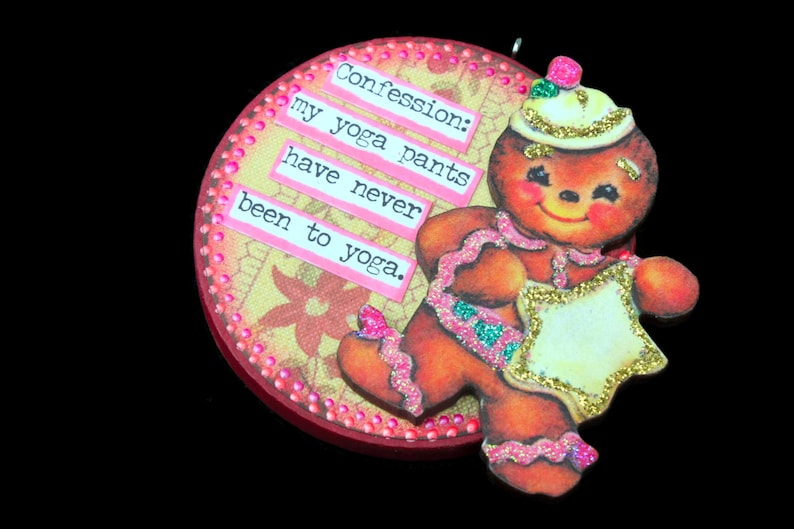 Snarky Gingerbread Woman Ornament Snarky Gingerbread Wall image 0