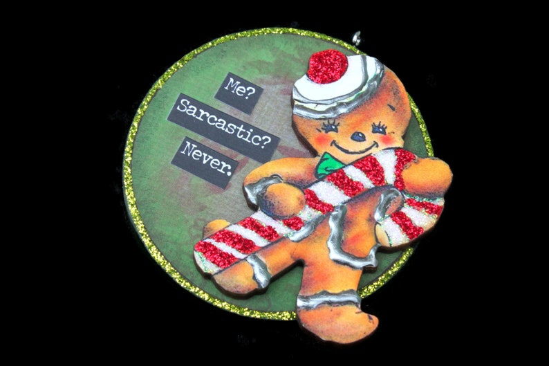 Snarky Gingerbread Man Ornament Snarky Gingerbread Man Wall image 0