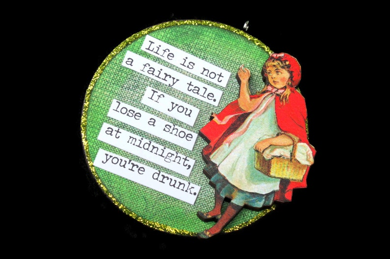 Snarky Adult Humor Girl Ornament Snarky Wall Art Sarcastic image 0