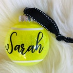 Custom Personalized Tennis Ball Ornament