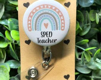 Educators Teacher Appreciation Week Retractable Badge Reel for Classroom Teachers Glitter Badge Reel Paraprofessionals